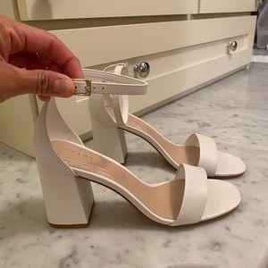 New Aldo White Block Heel shoes
